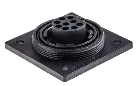 Bulgin Connector, 9 contacts Flange Mount Socket, Crimp IP68