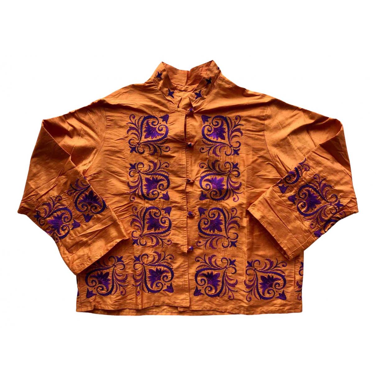 - Veste   pour femme en soie - orange
