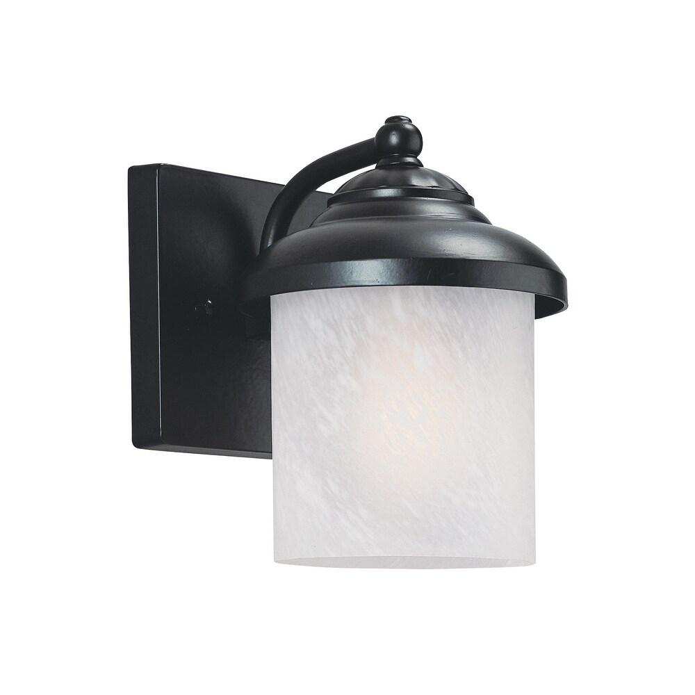 Sea Gull Yorktown Black Small 1-light Outdoor Wall Lantern (Black)