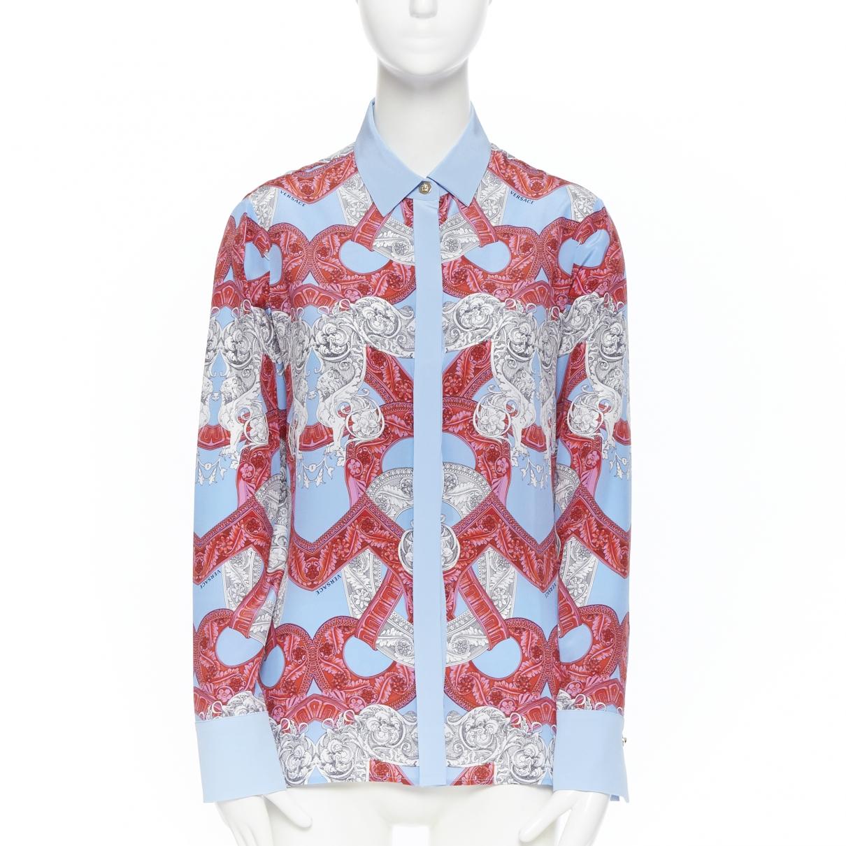 Versace - Top   pour femme en soie - multicolore