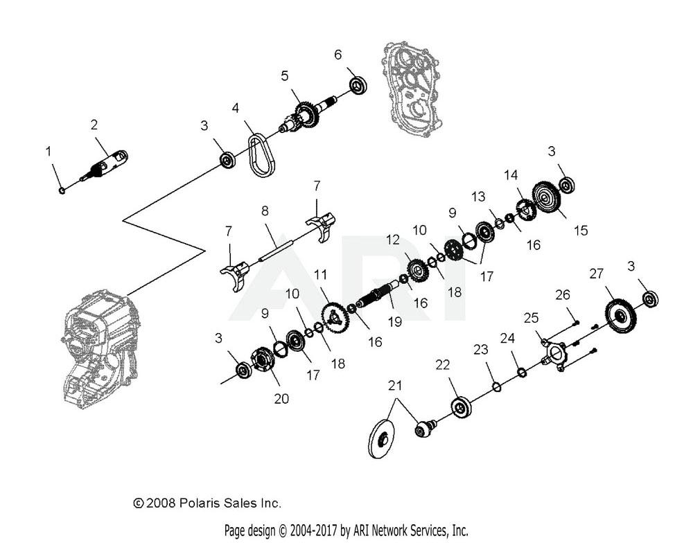 Polaris OEM 3234528 Gear, 33T
