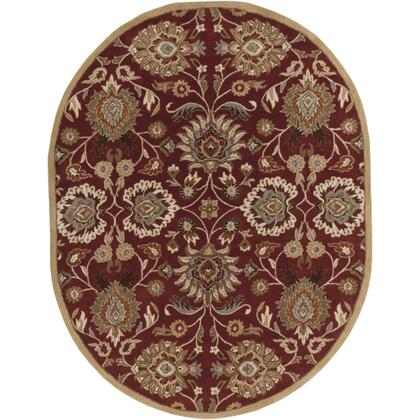 Caesar CAE-1061 6' x 9' Oval Traditional Rug in