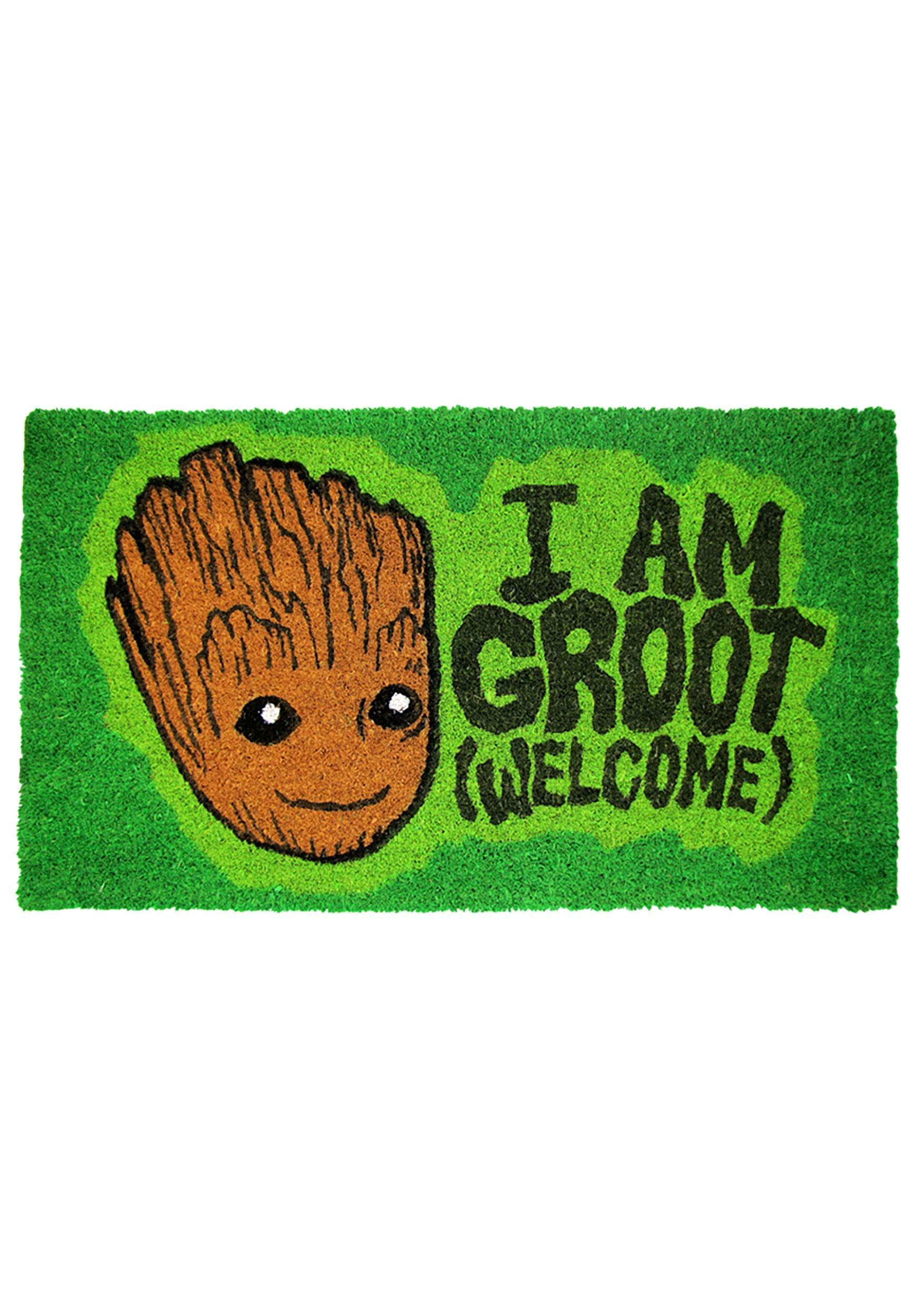 I Am Groot Guardians of the Galaxy Welcome Doormat