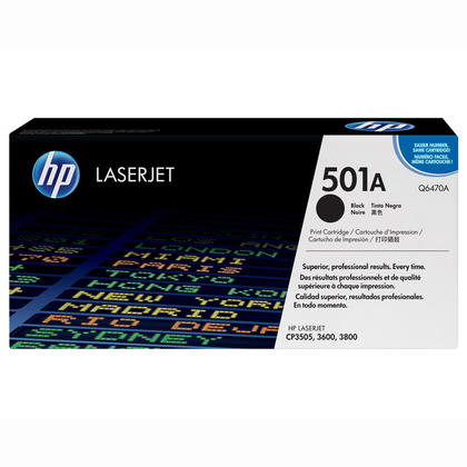 HP 501A Q6470A cartouche de toner originiale noire