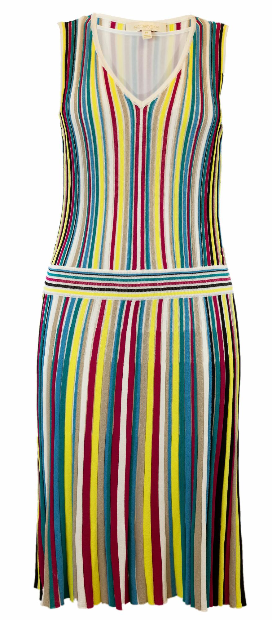 Etcetera Carolina Dress, Strips, Viscose Fabric, Light Fit, Versatile Style - M - Colorful Stripes