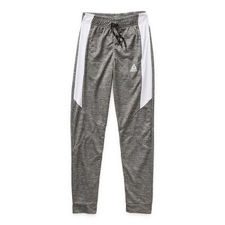 Reebok Boys Cuffed Sweatpant, 6 , Gray