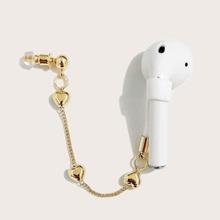 1 Stueck Anti-Lost Ohrring fuer Bluetooth Ohrhorer mit Herzen Dekor