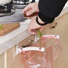 1pair Cabinet Trash Bag Hanging Rack