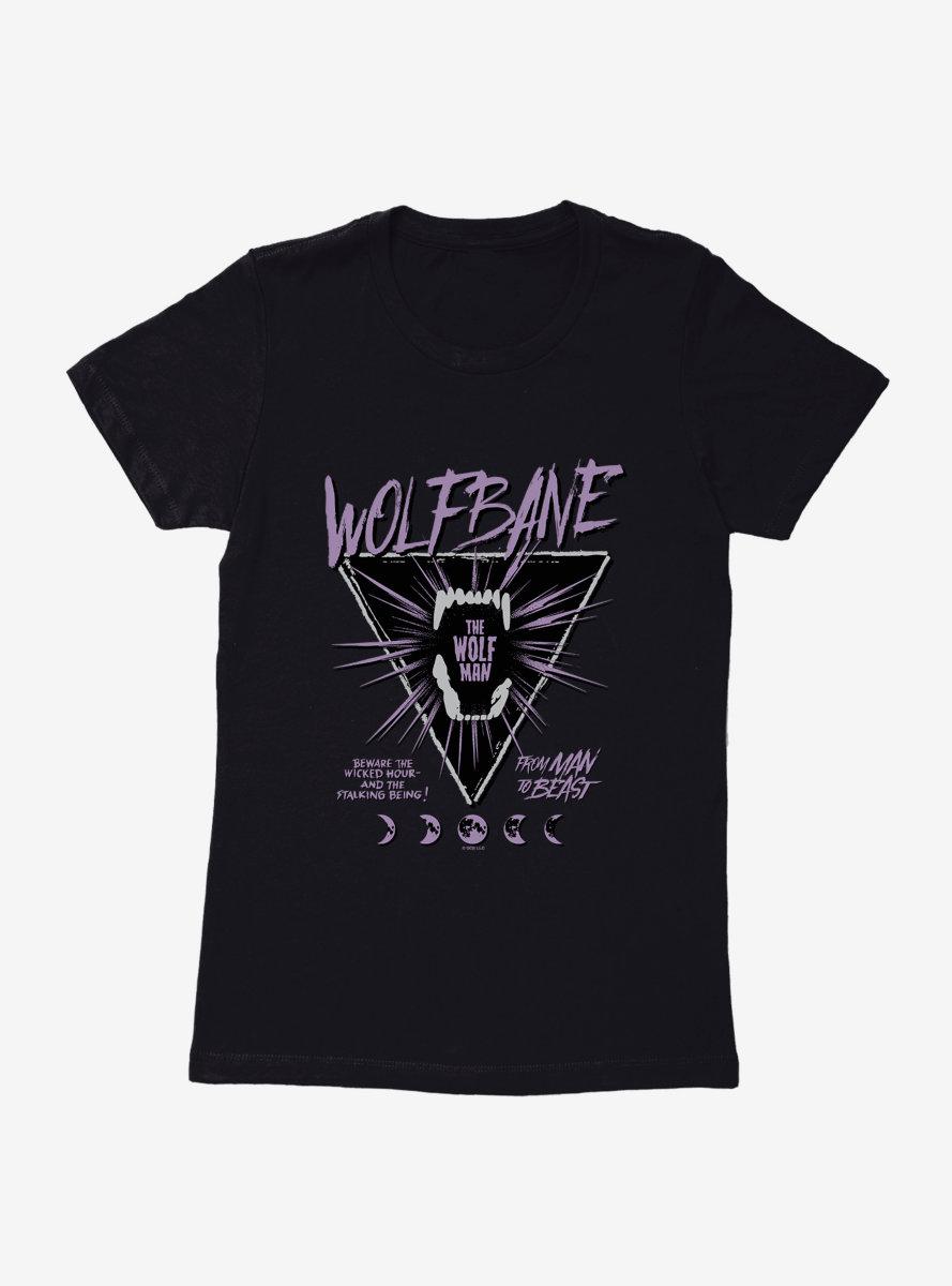 Universal Monsters The Wolf Man Wolfbane Womens T-Shirt