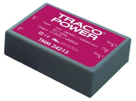TRACOPOWER , 24W Embedded Switch Mode Power Supply SMPS, 12V dc, Encapsulated, Medical Approved
