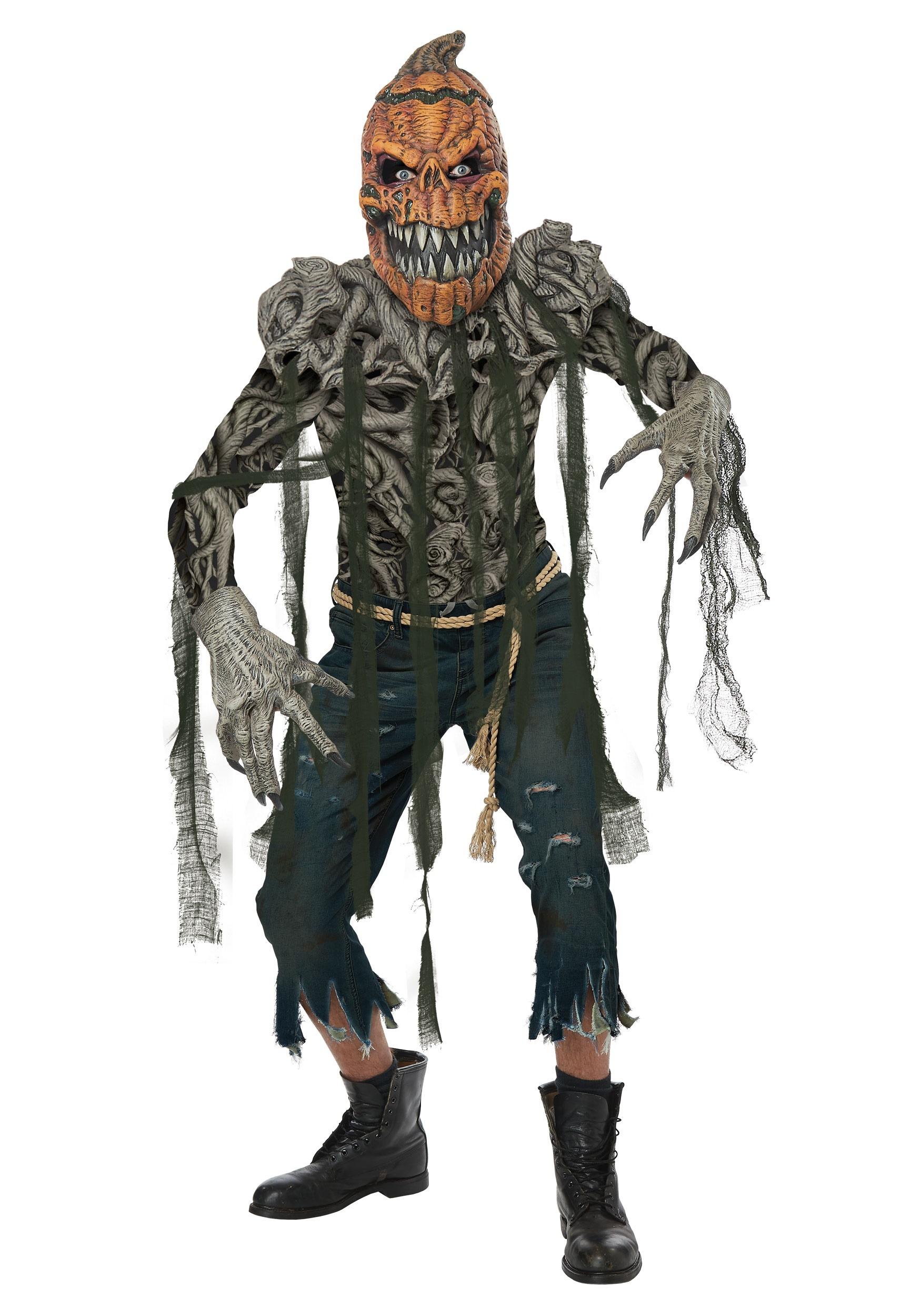 Pumpkin Head Costume for Men