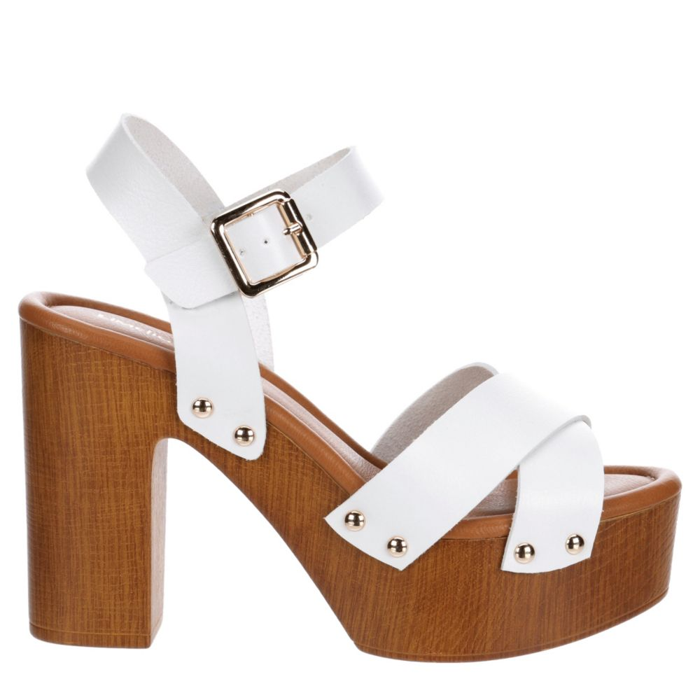 Limelight Womens April Wooden Heel Dress Sandals