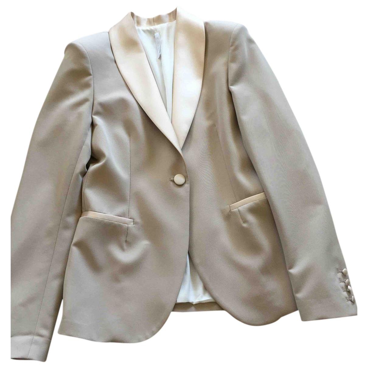 Imperial \N Kleid in  Beige Polyester