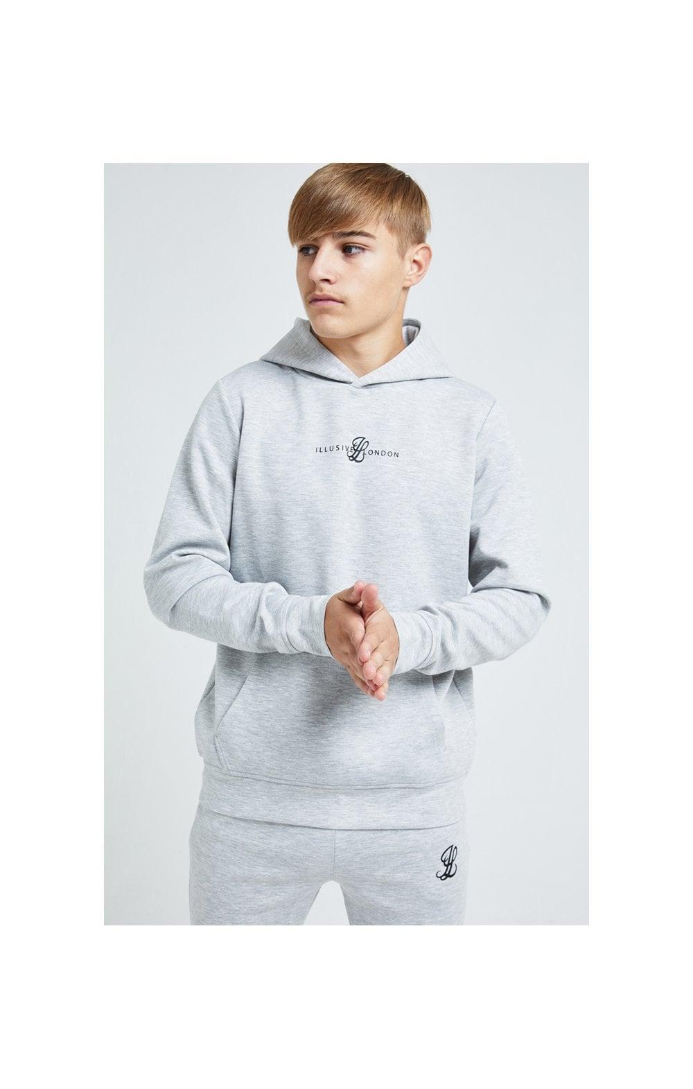 Illusive London Dual Overhead Hoodie - Grey Kids Top Sizes: 9-10 YRS