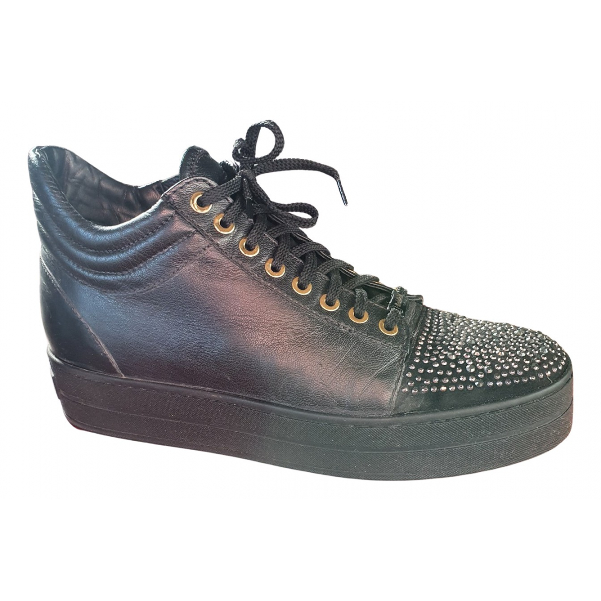 Baldinini \N Sneakers in  Schwarz Leder
