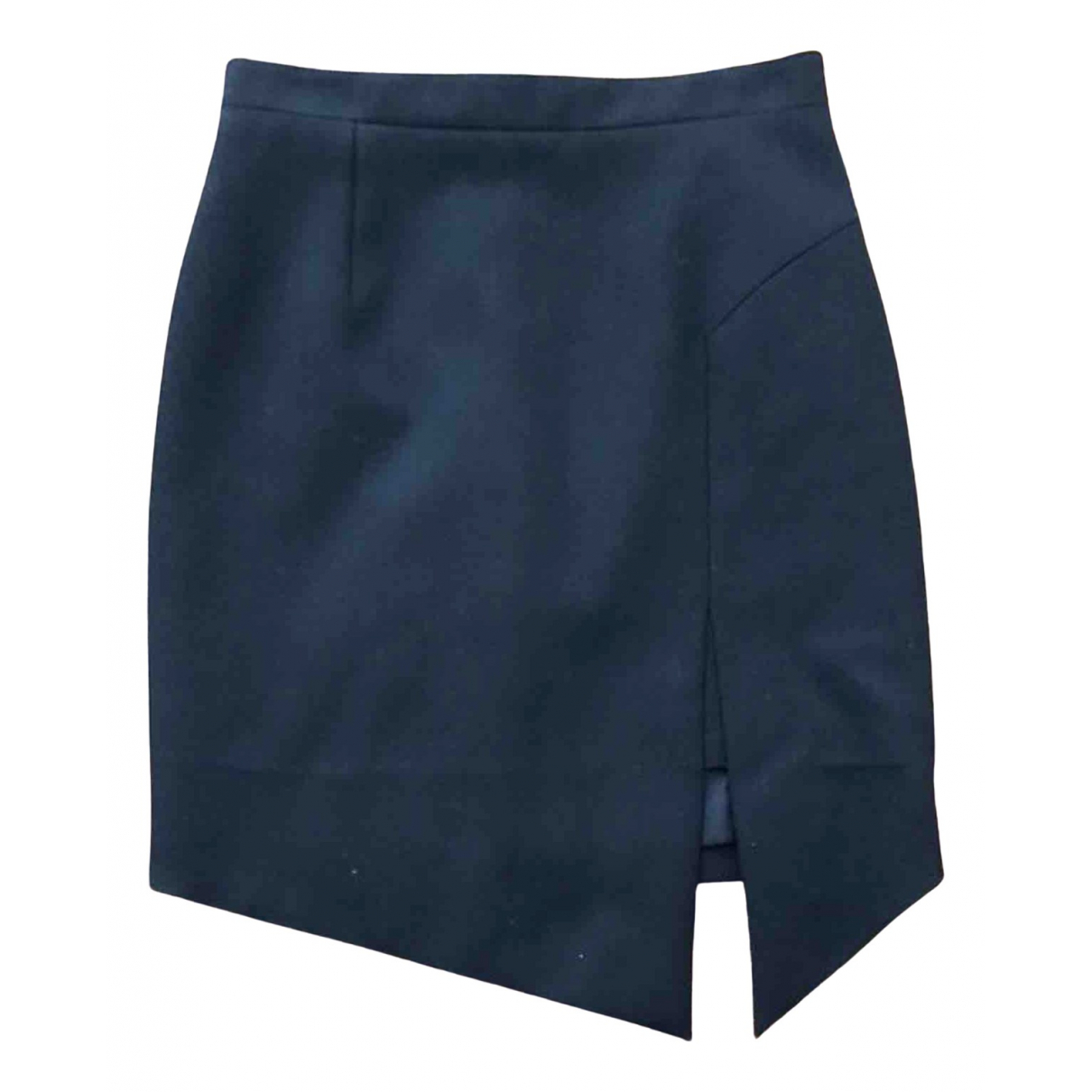 Saint Laurent \N Black Wool skirt for Women 40 IT