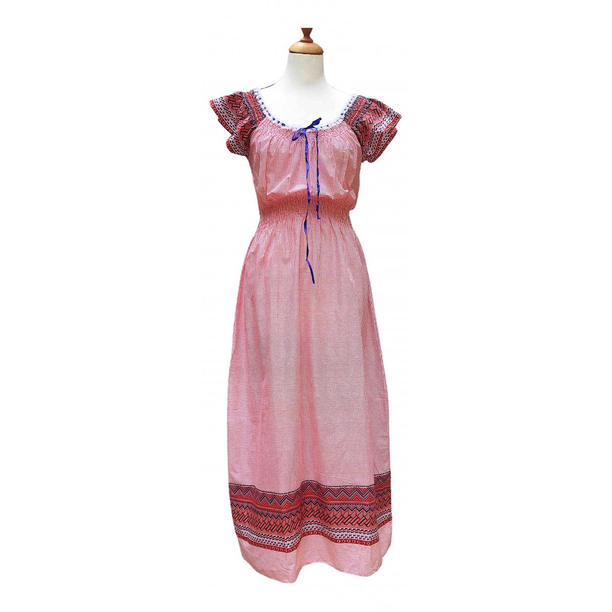 Non Signé / Unsigned Hippie Chic Multicolour Cotton dress for Women S International