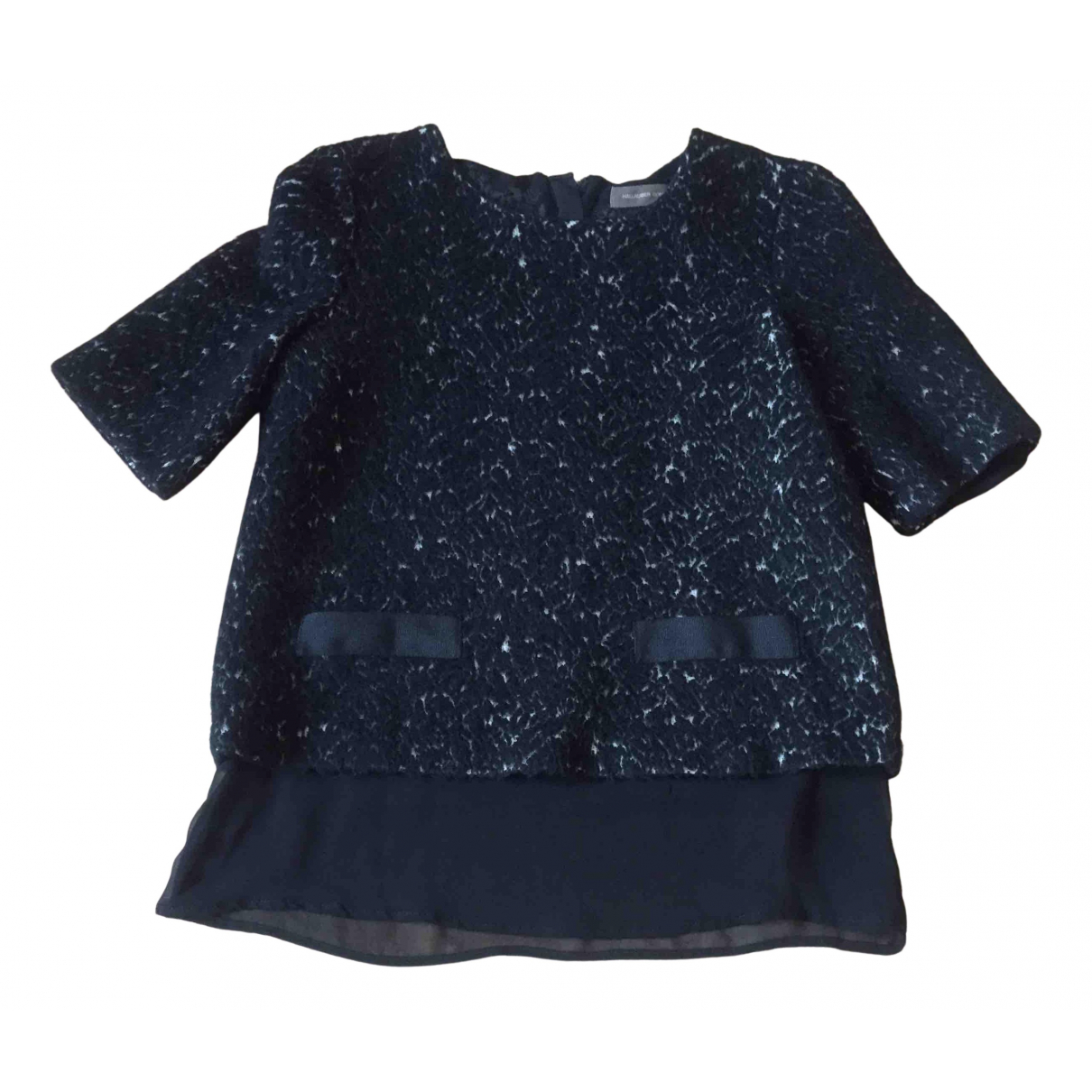 Hallhuber N Black Wool  top for Women 6 UK
