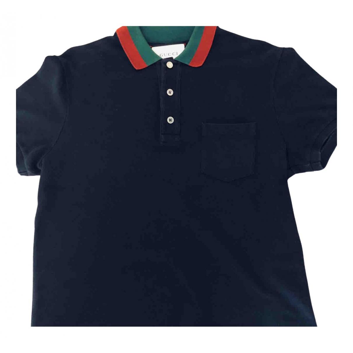 Gucci \N Poloshirts in  Marine Baumwolle