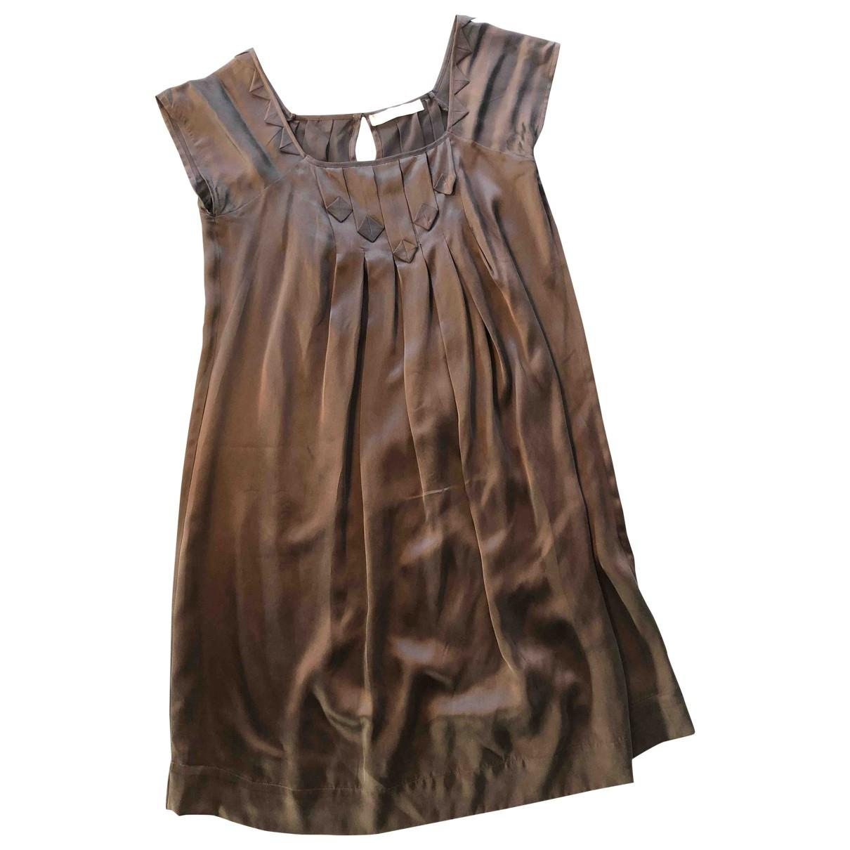 Shyde - Robe   pour femme en soie - violet
