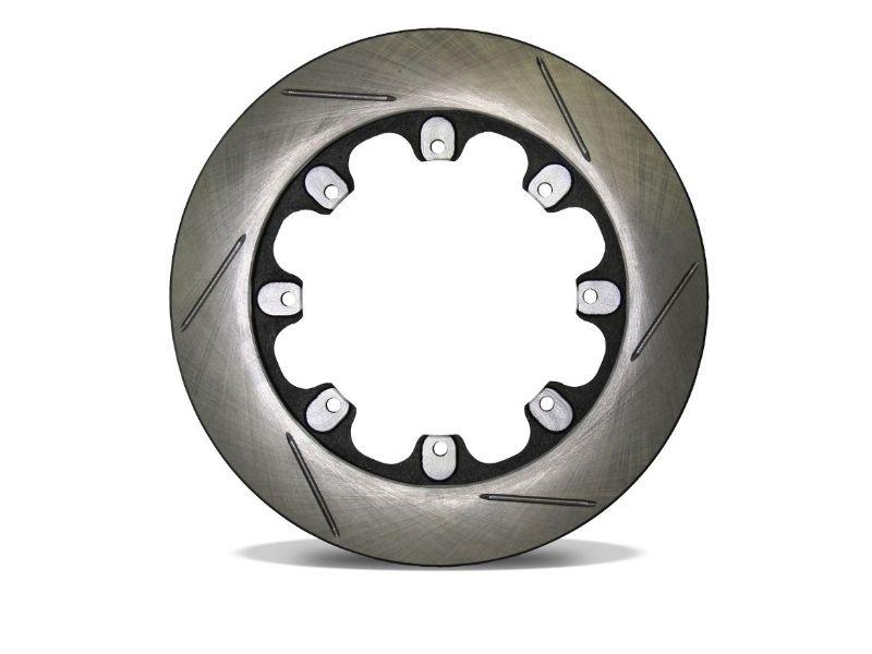 AFCO 6640107 Cast Iron Brake Rotor Lh Slotted Pillar Vane Style 11.75