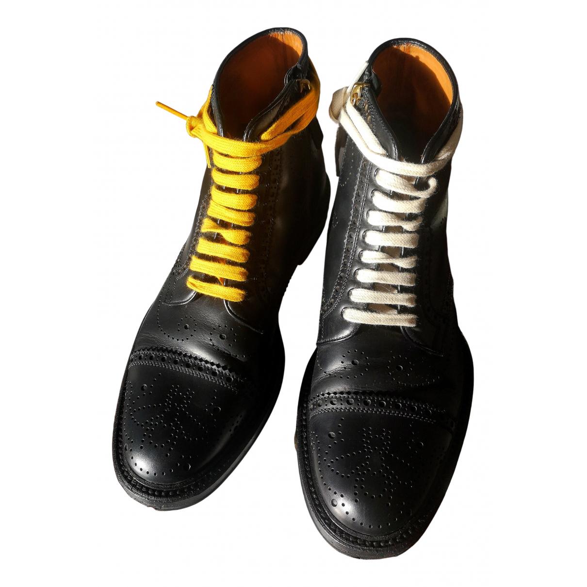 Gucci - Bottes.Boots Queercore pour homme en cuir - noir