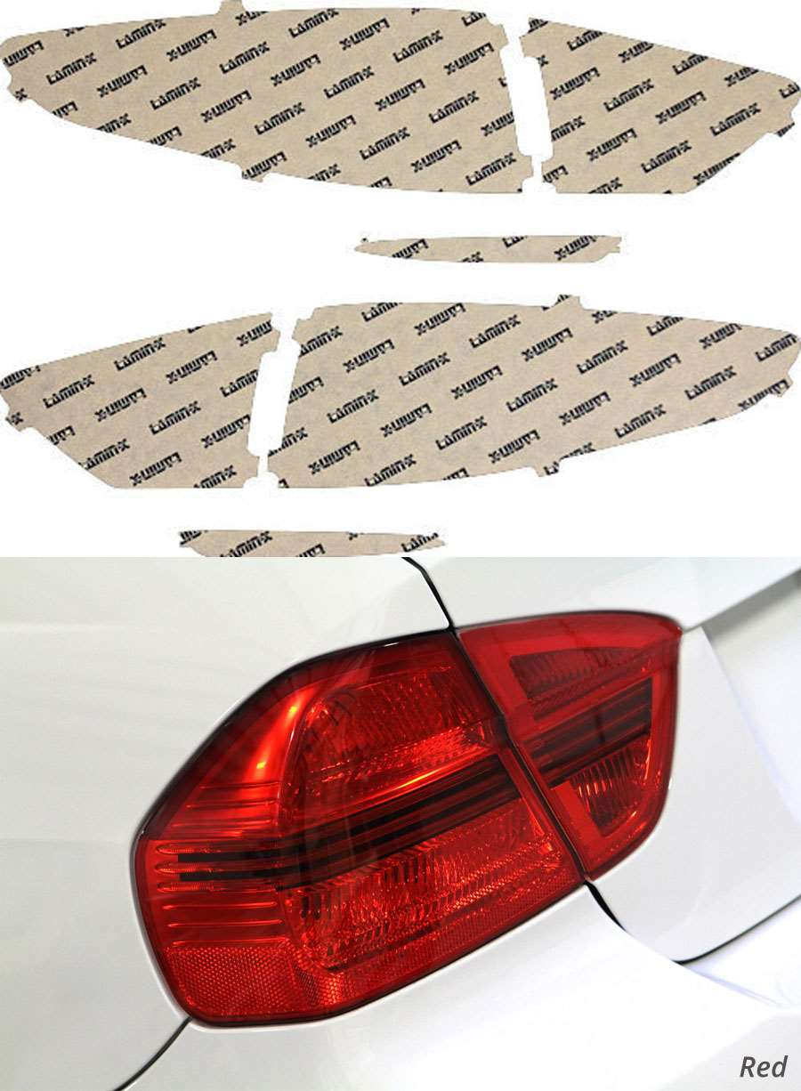 Ford Fusion 13-16 Red Tail Light Covers Lamin-X F243R