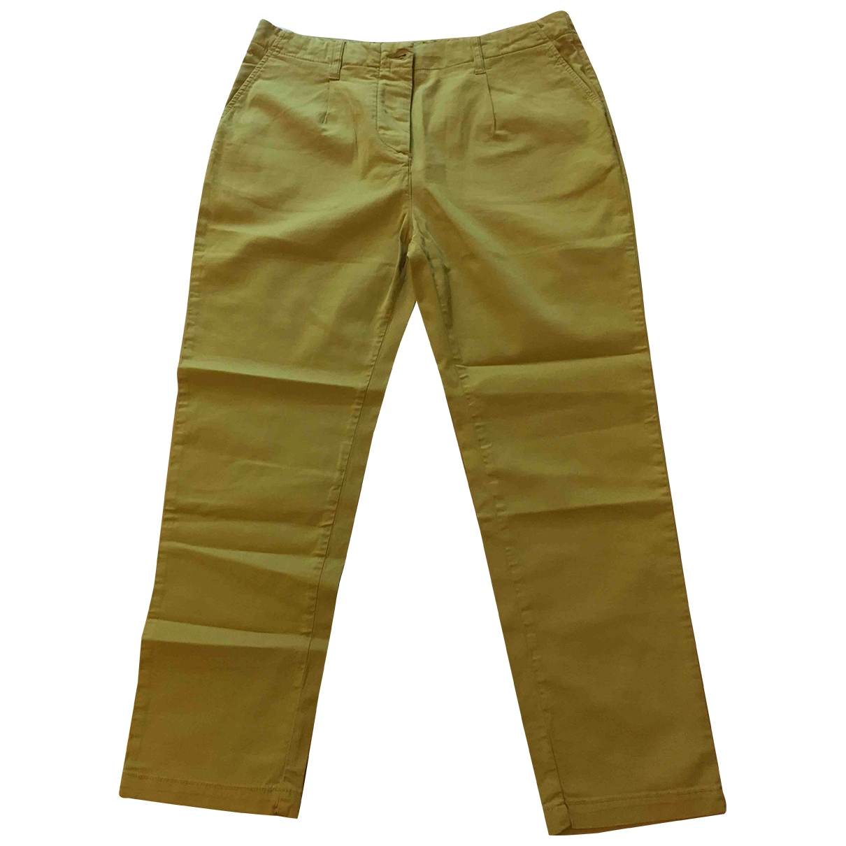 Jucca \N Ecru Cotton Trousers for Women 44 IT