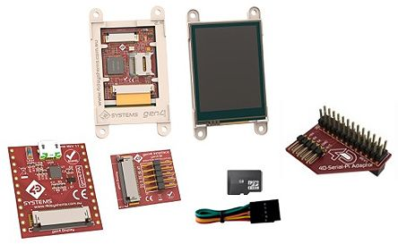 4D Systems SK-gen4-70D-PI, Gen4 Diablo16 7in Colour LCD Display Starter Kit for Raspberry Pi