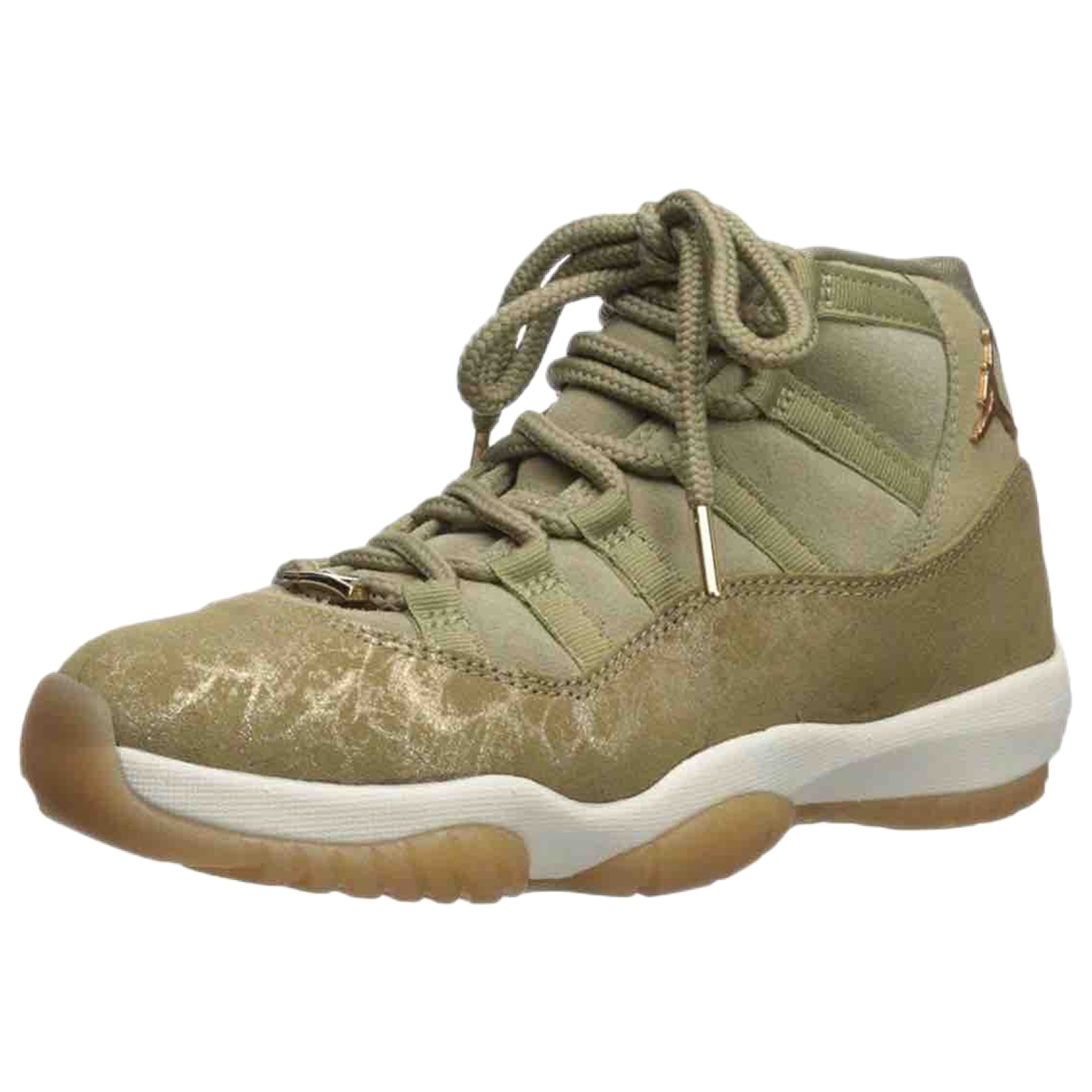 Jordan - Baskets Air Jordan 11 pour femme en suede - vert