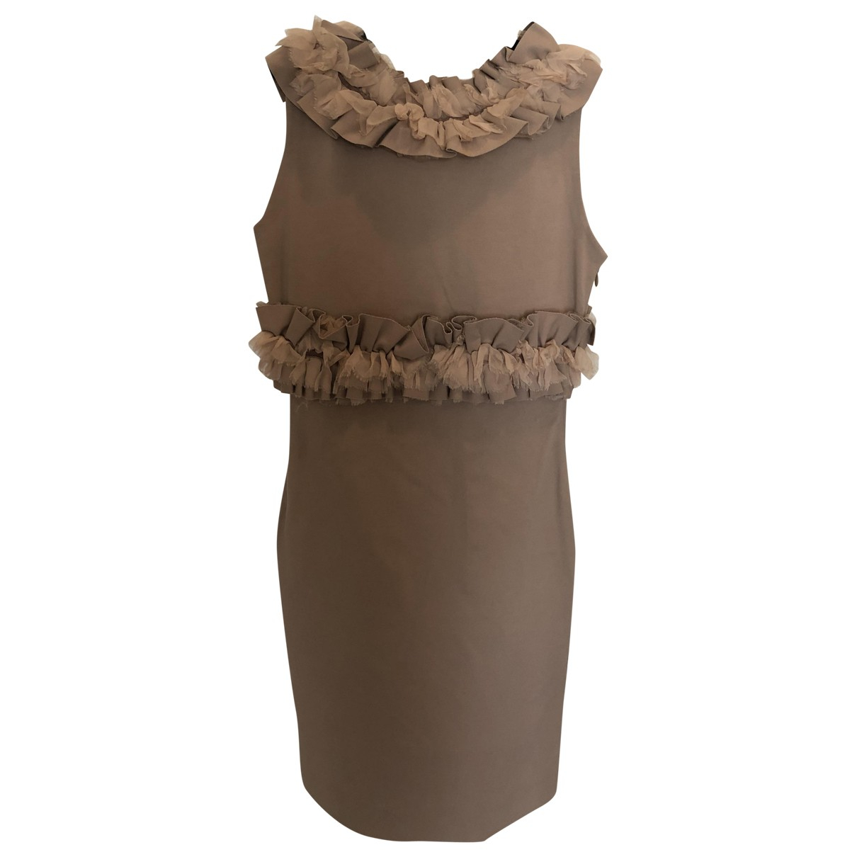 Dsquared2 \N Kleid in  Beige Viskose