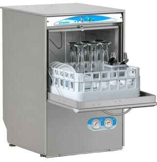 S480EKS (Lamber) Electronic Glasswasher Gravity Drain With Two Baskets for Glasses  Saucer Insert and Cutlery