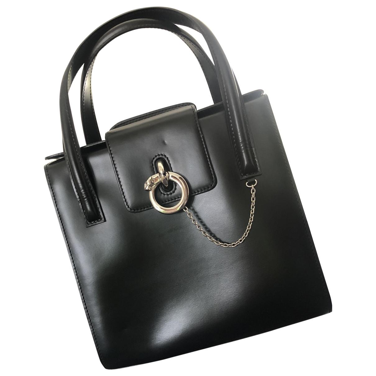 Cartier Panthere Handtasche in  Schwarz Leder