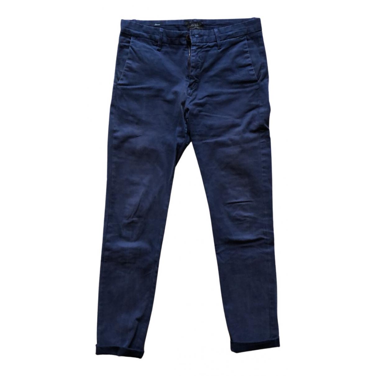 Scotch & Soda N Blue Cotton Trousers for Men S International