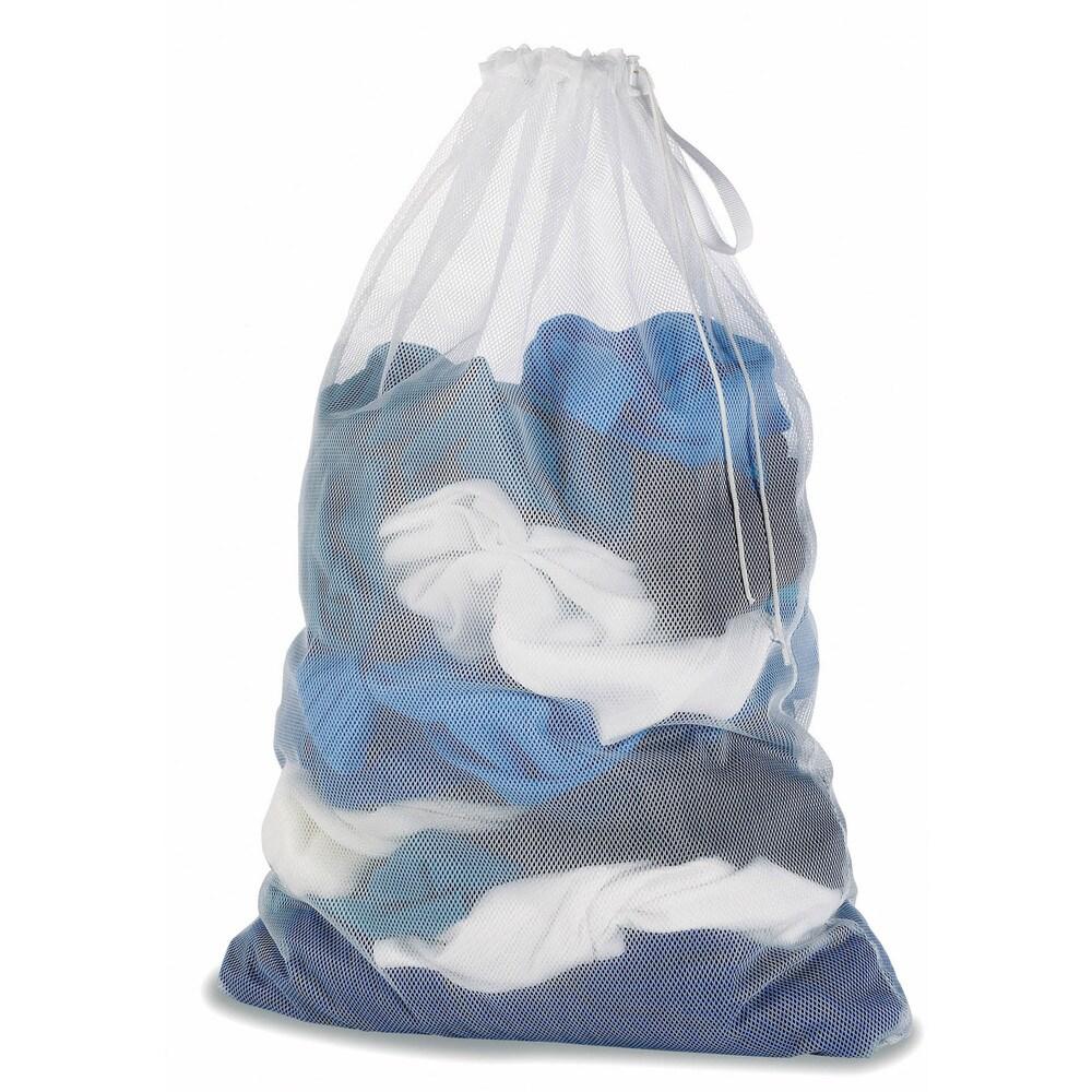 Whitmor 6154-111 White Mesh Laundry Bag (Laundry Bag Mesh Wht)