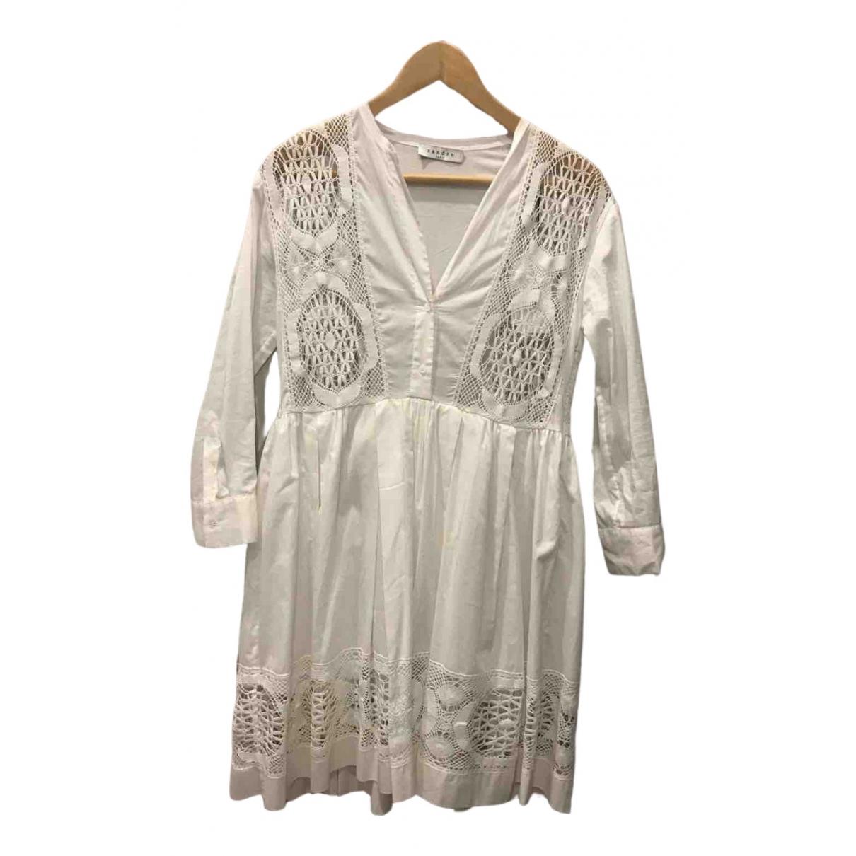 Sandro - Robe Spring Summer 2020 pour femme en coton - blanc