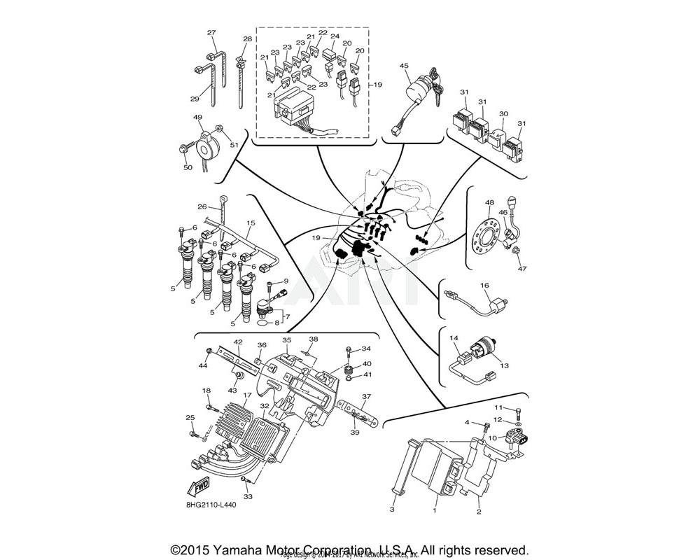 Yamaha OEM 8HG-85991-00-00 BRACKET, UNIT