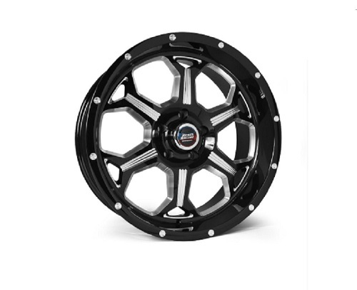 Rebel Racing Fortress Wheel 20x10 6x135 -18mm Black/Machined