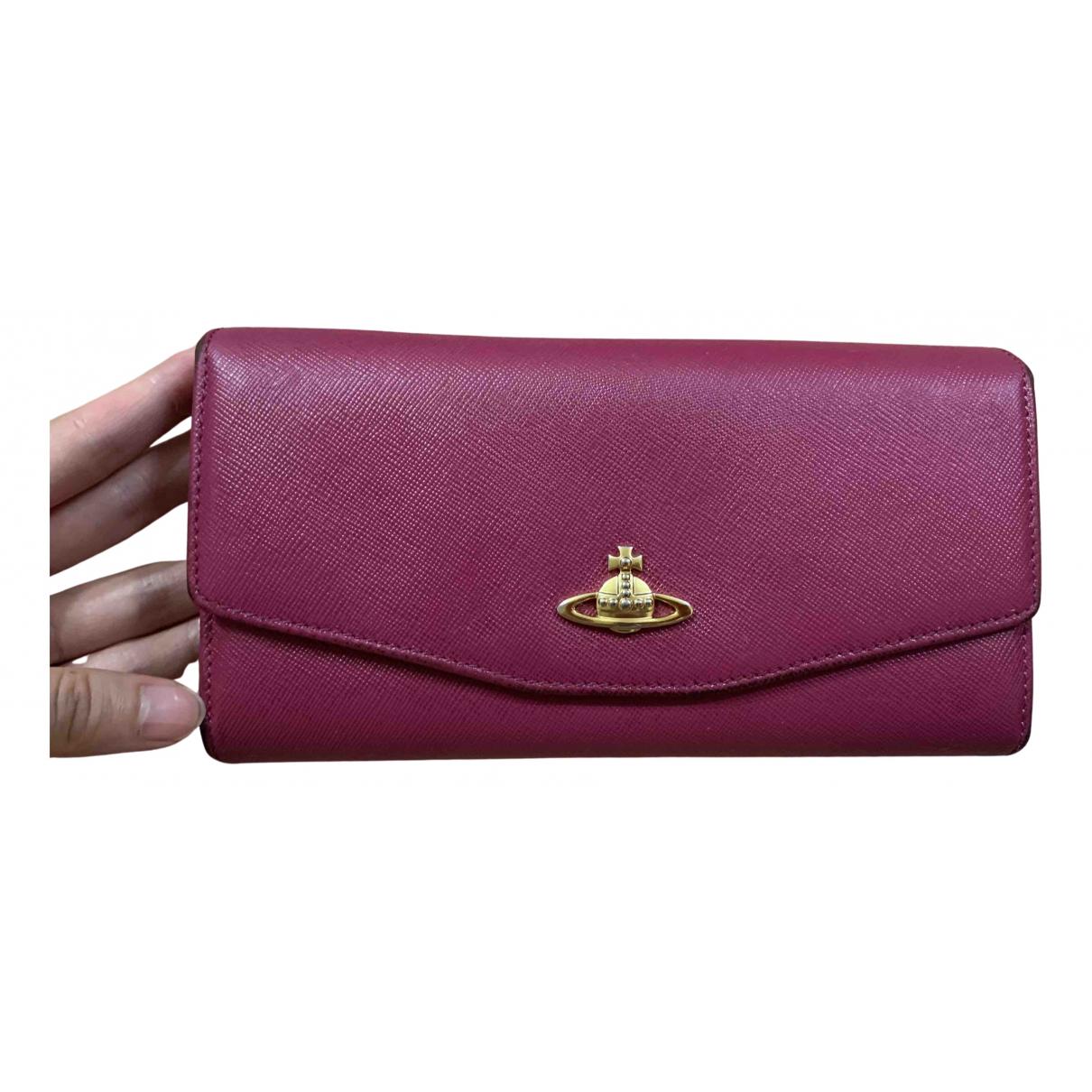Vivienne Westwood - Portefeuille   pour femme en cuir - rose