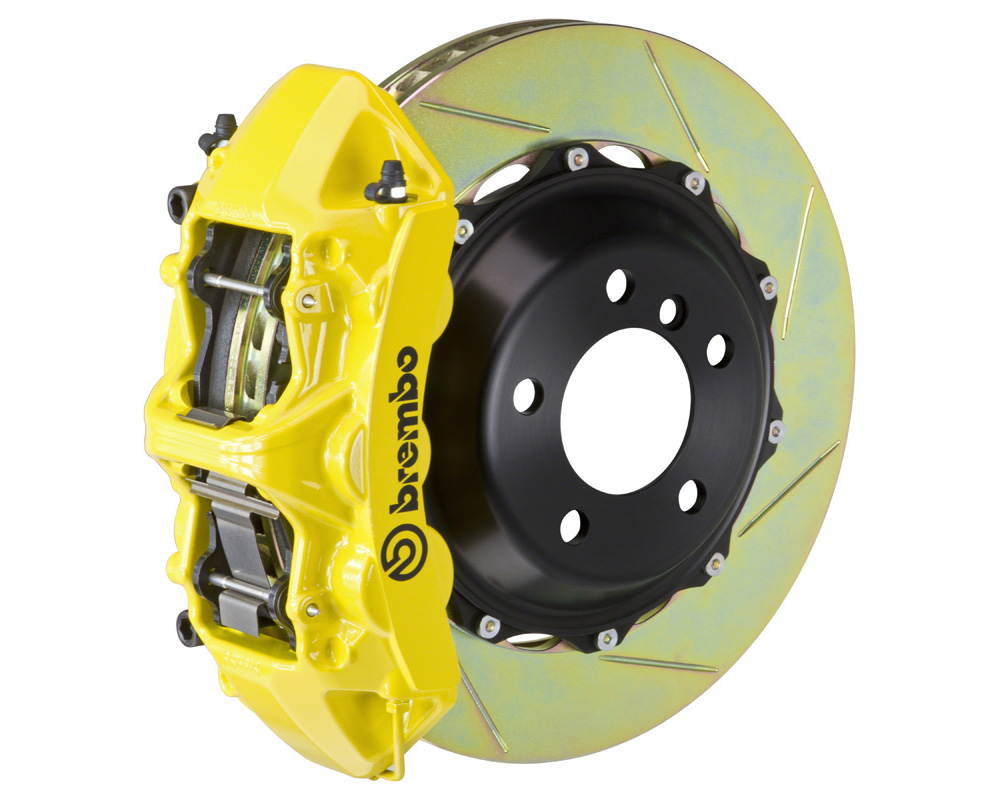 Brembo GT 380x32 2-Piece 6 Piston Yellow Slotted Front Big Brake Kit