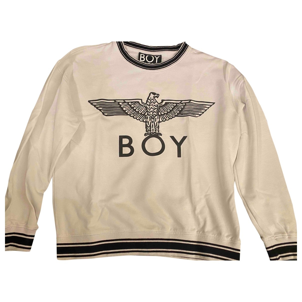Boy London \N Pullover.Westen.Sweatshirts  in  Weiss Baumwolle