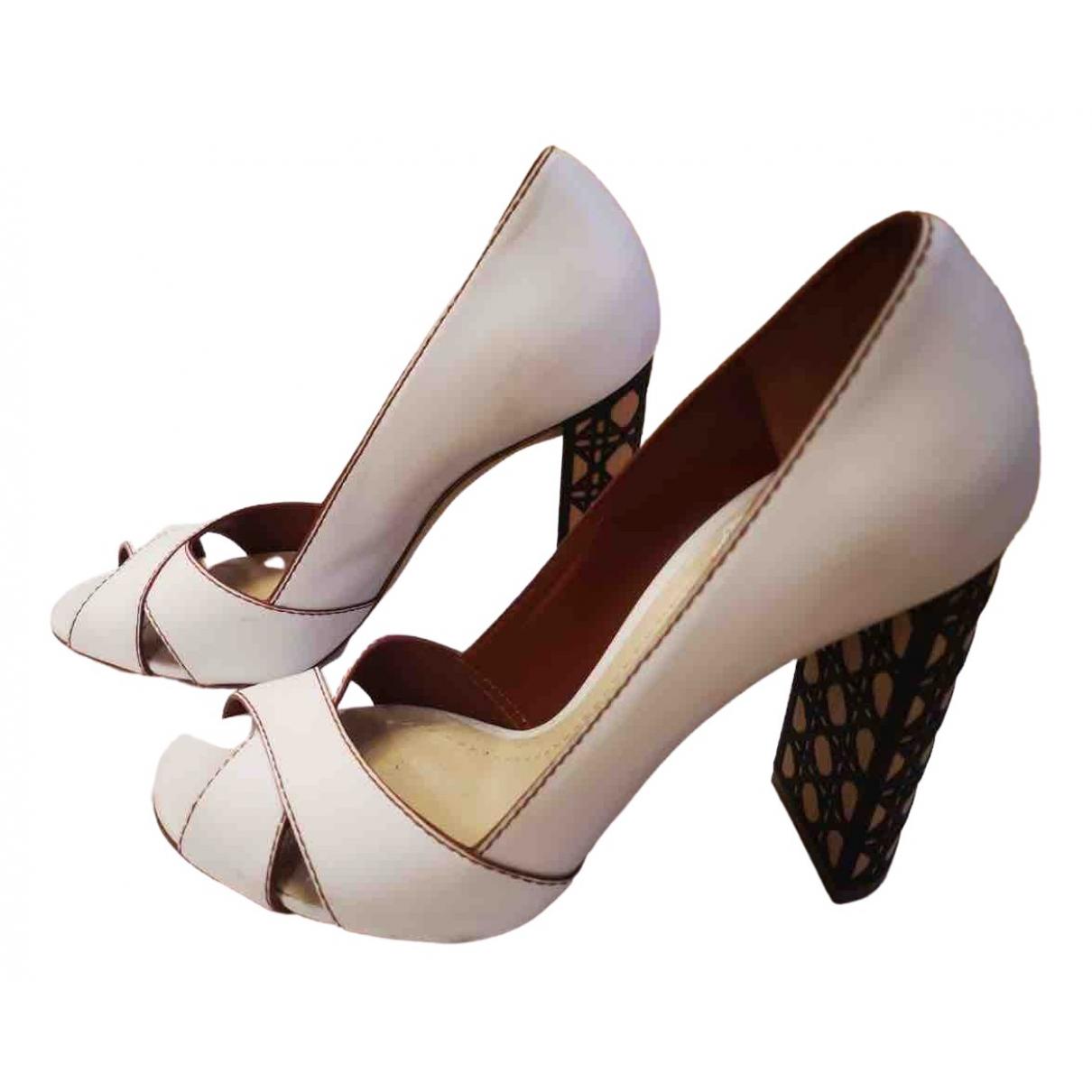 Dior \N White Leather Heels for Women 38 EU