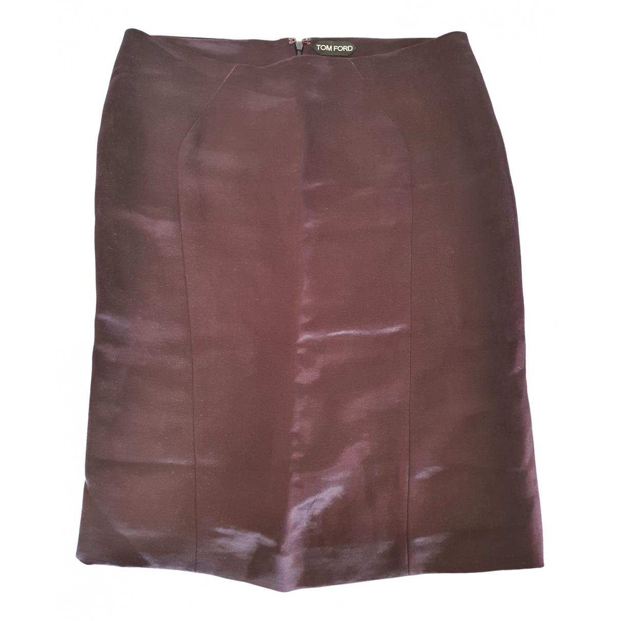 Tom Ford - Jupe   pour femme en soie - violet