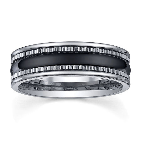 Tungsten Wedding Band, Mens 7mm, 9 , No Color Family
