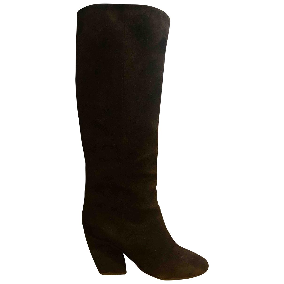 Christian Dior \N Black Suede Boots for Women 39 EU