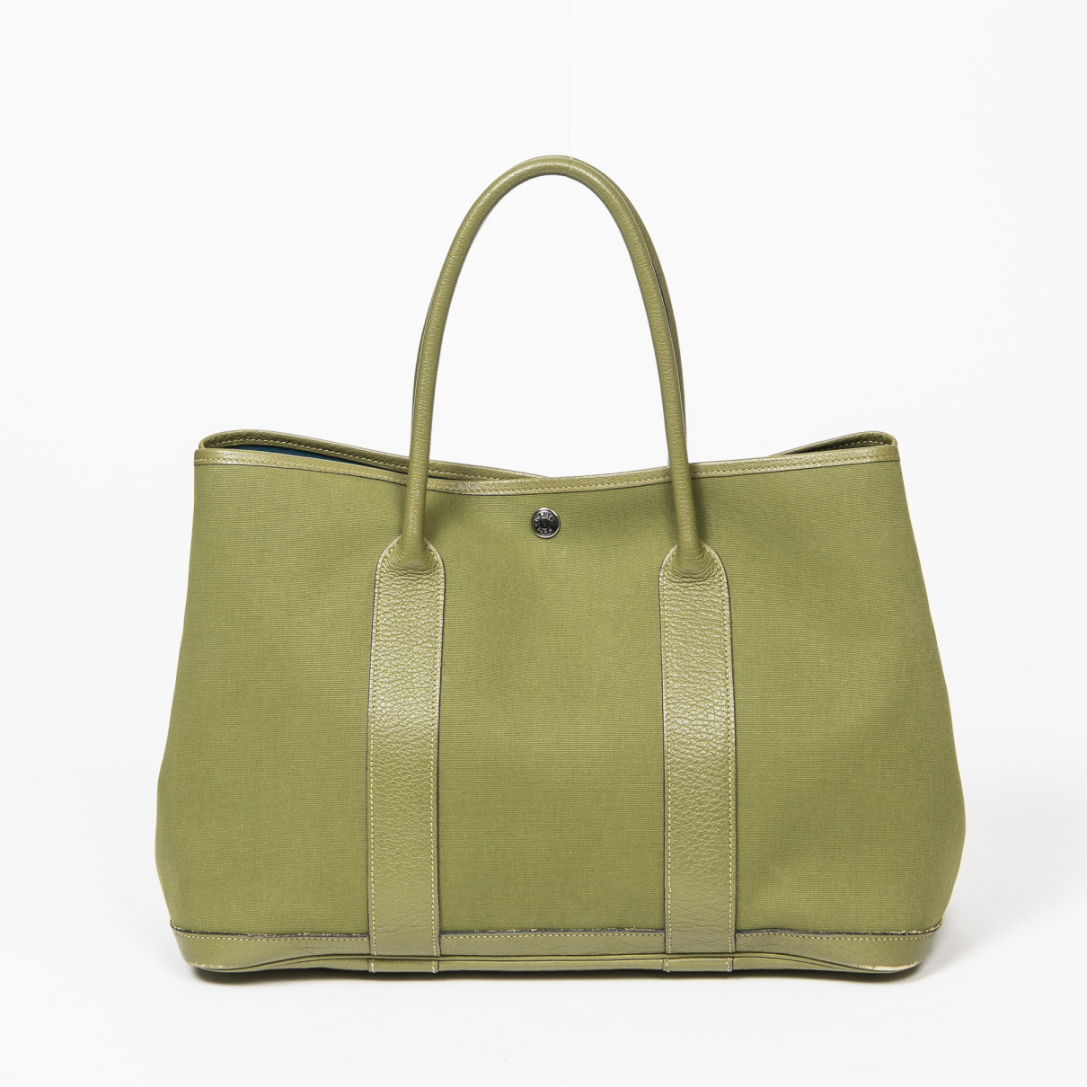 Hermès Garden Party Green Leather handbag for Women \N