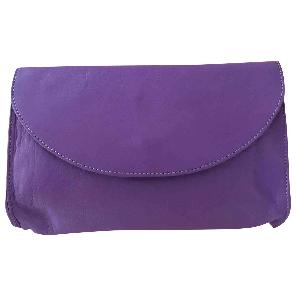 Non Signé / Unsigned \N Purple Leather Clutch bag for Women \N