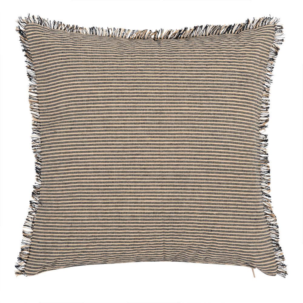Kissenbezug aus Baumwolle und Jute, Streifenmuster 40x40