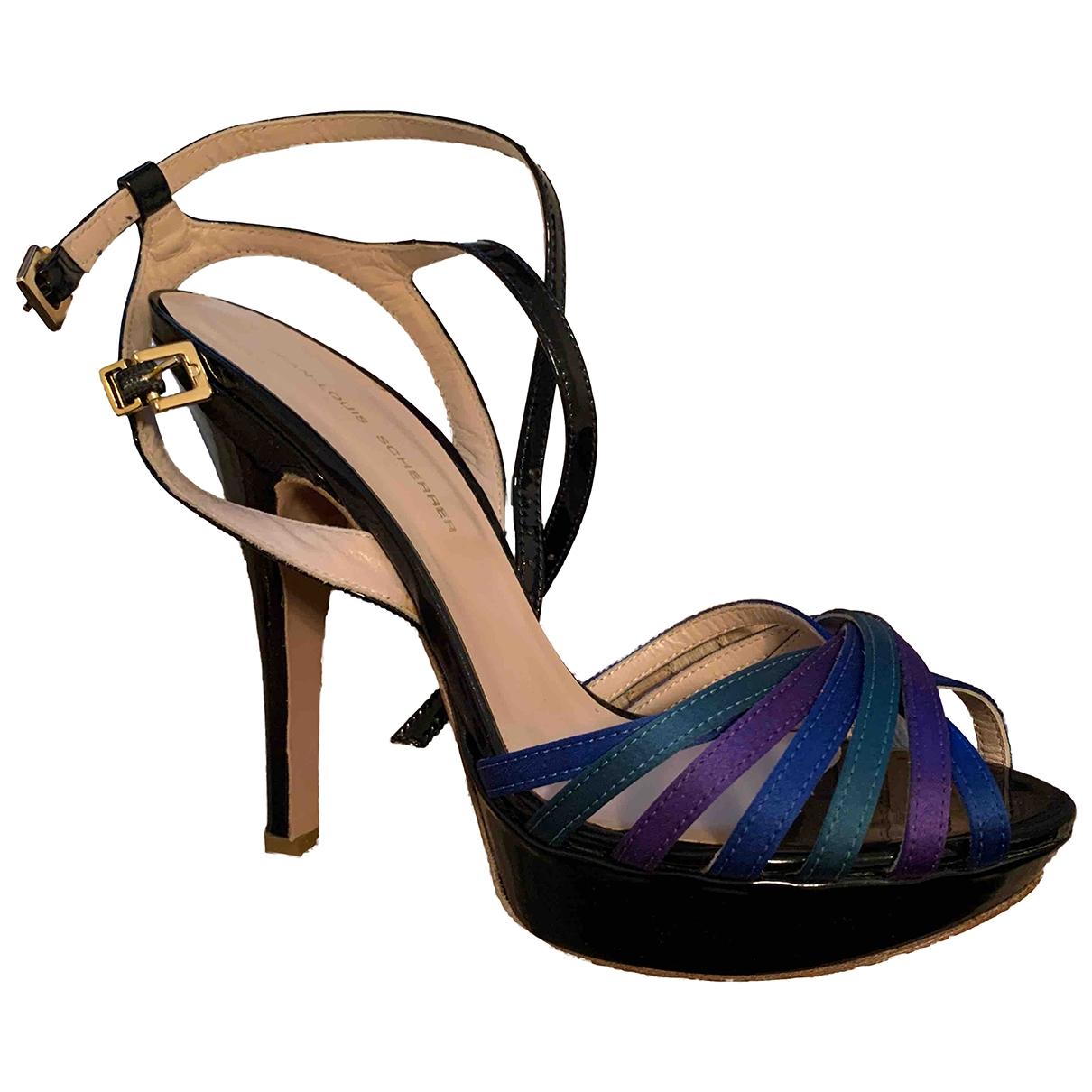 Jean-louis Scherrer - Sandales   pour femme en cuir verni - multicolore
