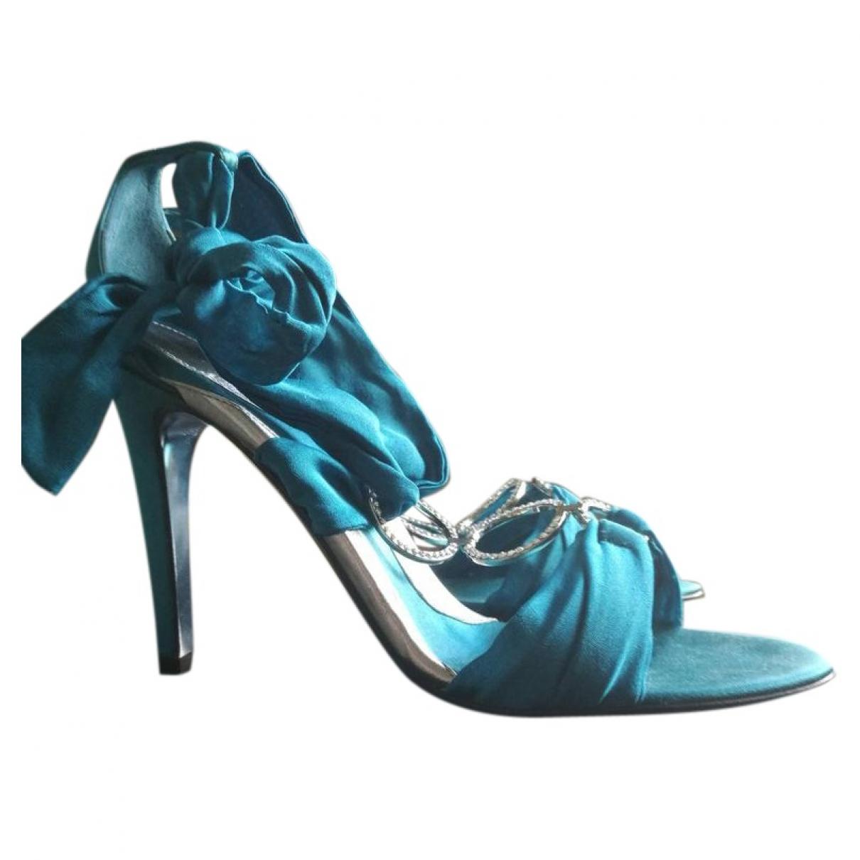 Azzaro \N Turquoise Cloth Heels for Women 40 EU